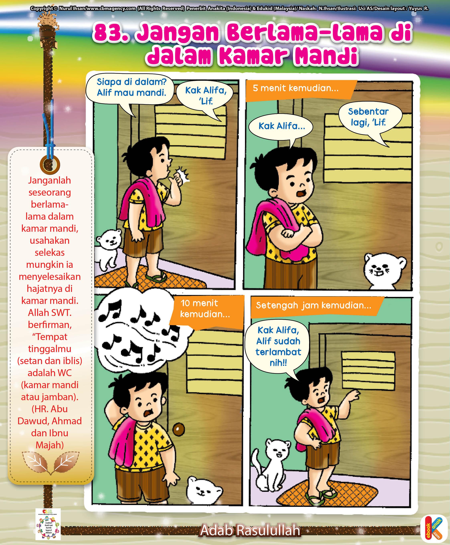 Komik Adab Jangan Berlama Lama Di Kamar Mandi Ebook Anak