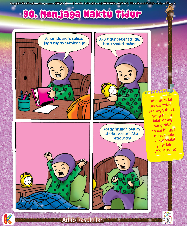 90 Gambar Ilustrasi Komik Muslimah Gambarilus