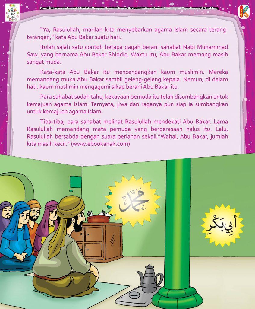 Abu Bakar Shiddiq hal 17 Abu Bakar Mengajak Rasul Berdakwah Terang-Terangan