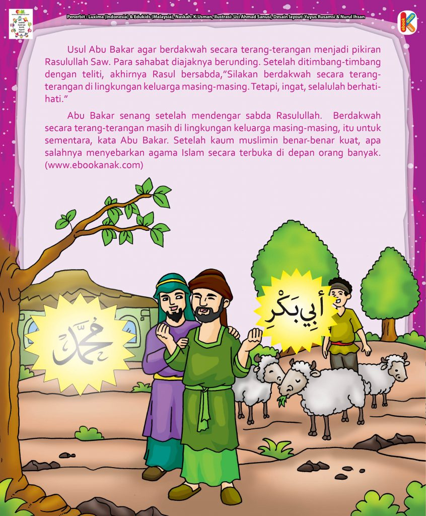 Abu Bakar Shiddiq hal 18 Abu bakar berdakwah di lingkungan keluarga