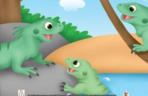 Sepintas wajah iguana memang mirip dengan binatang purba itu.