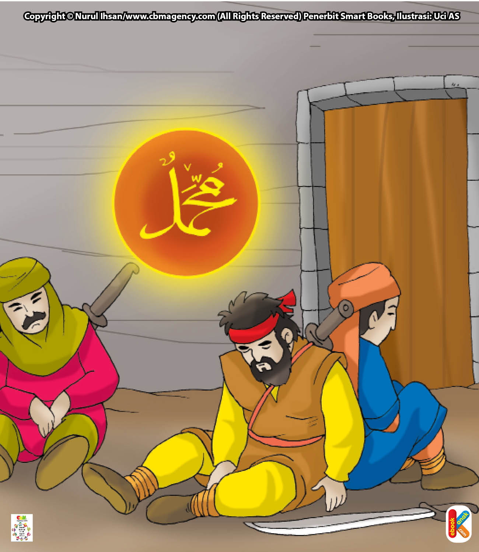 Ketika orang-orang kafir Quraisy melihat Rasulullah Saw. keluar rumah, mereka menunduk dan tidak ada satu pun yang berani mengangkat kepala.