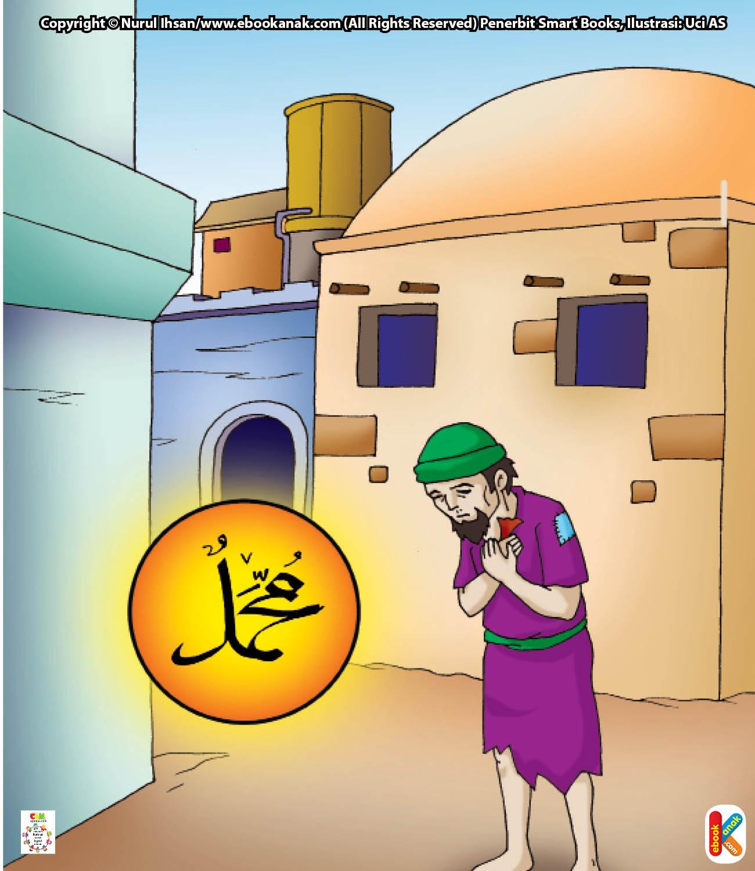 Di tengah jalan, tiba-tiba Rasulullah Saw. bertemu dengan seorang hamba sahaya.