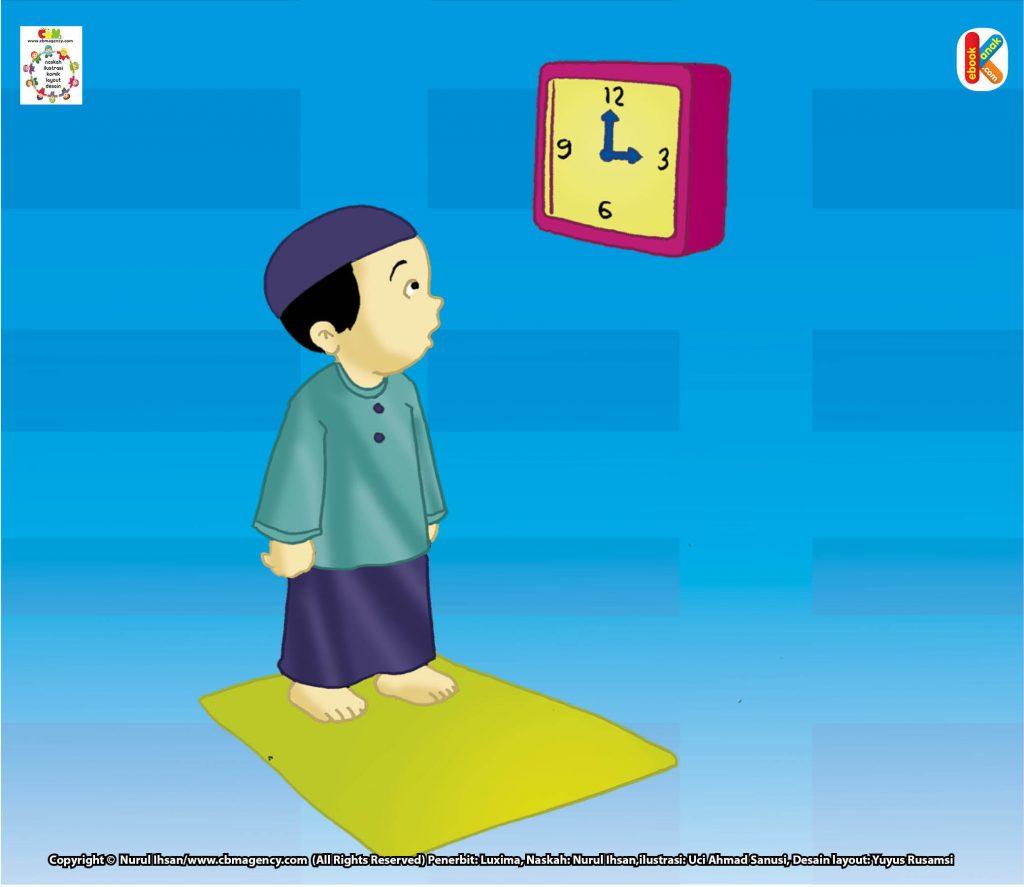 Download gambar gratis hal 19-20 telah masuk waktu shalat, syarat wajib dan syarat sah shalat