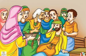 Mereka tergesa-gesa kembali lagi ke rumah Abu Bakar.