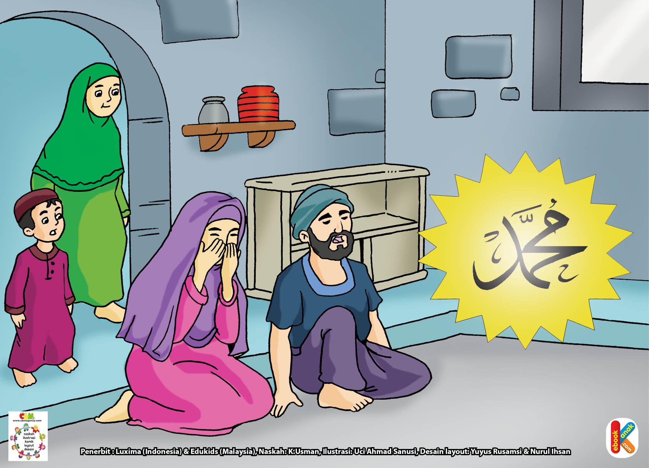 Ummu Salma binti Khair menundukkan kepala. Ummu Salma binti Khair meneteskan air mata.