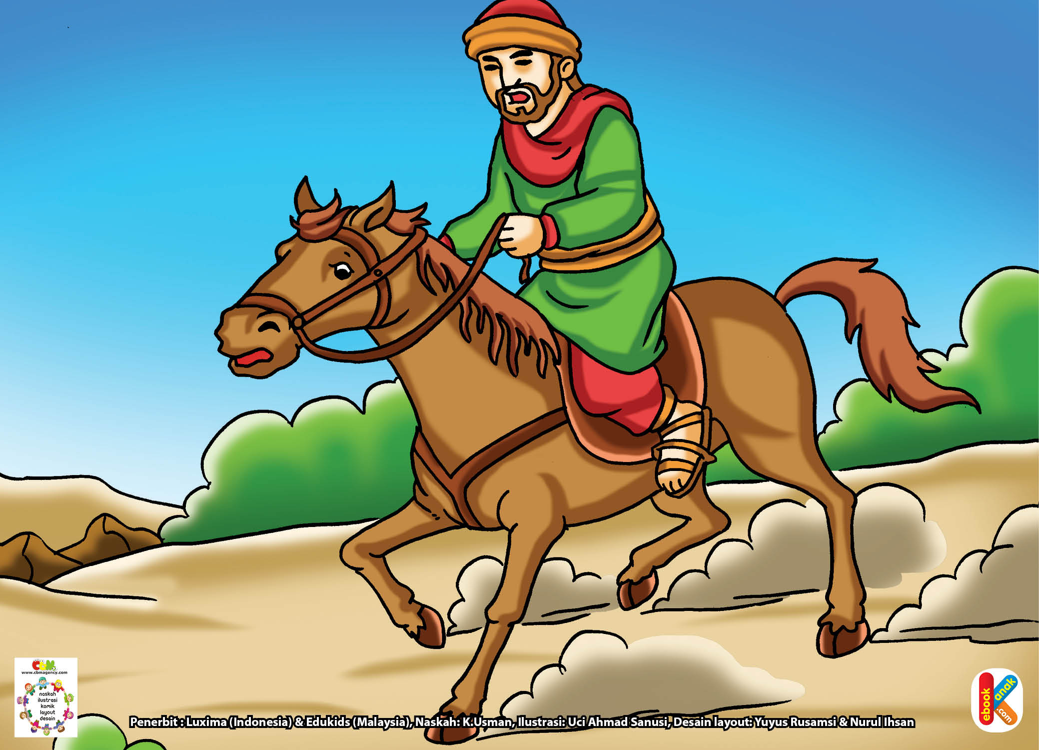 Muka Abu Bakar menunjukkan kecemasan.