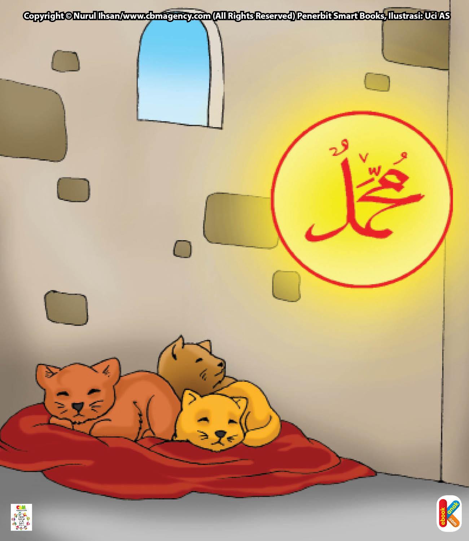 Setiap kali azan berkumandang, Mu'izza suka mengeong.