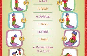 Belajar dan mengenal bacaan dan gerakan shalat.