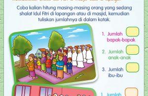 Pada Hari Raya Idul Fitri, kita melaksanakan shalat Idul Fitri di masjid atau di lapangan.