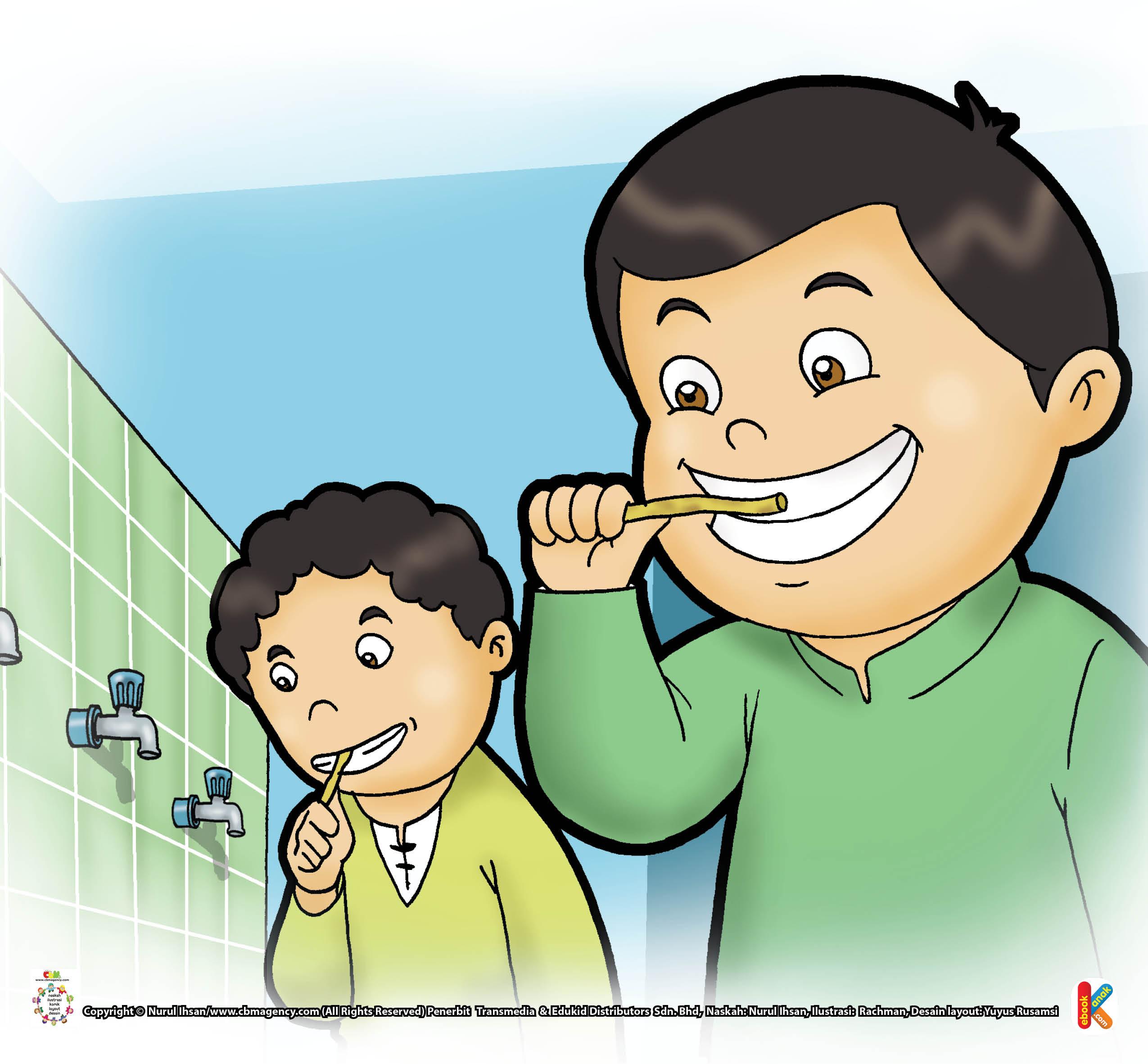 Mulut jadi bersih, nafas pun segar dan harum. Dan yang paling penting, Allah mencintai orang yang rajin menggosok gigi, lho.