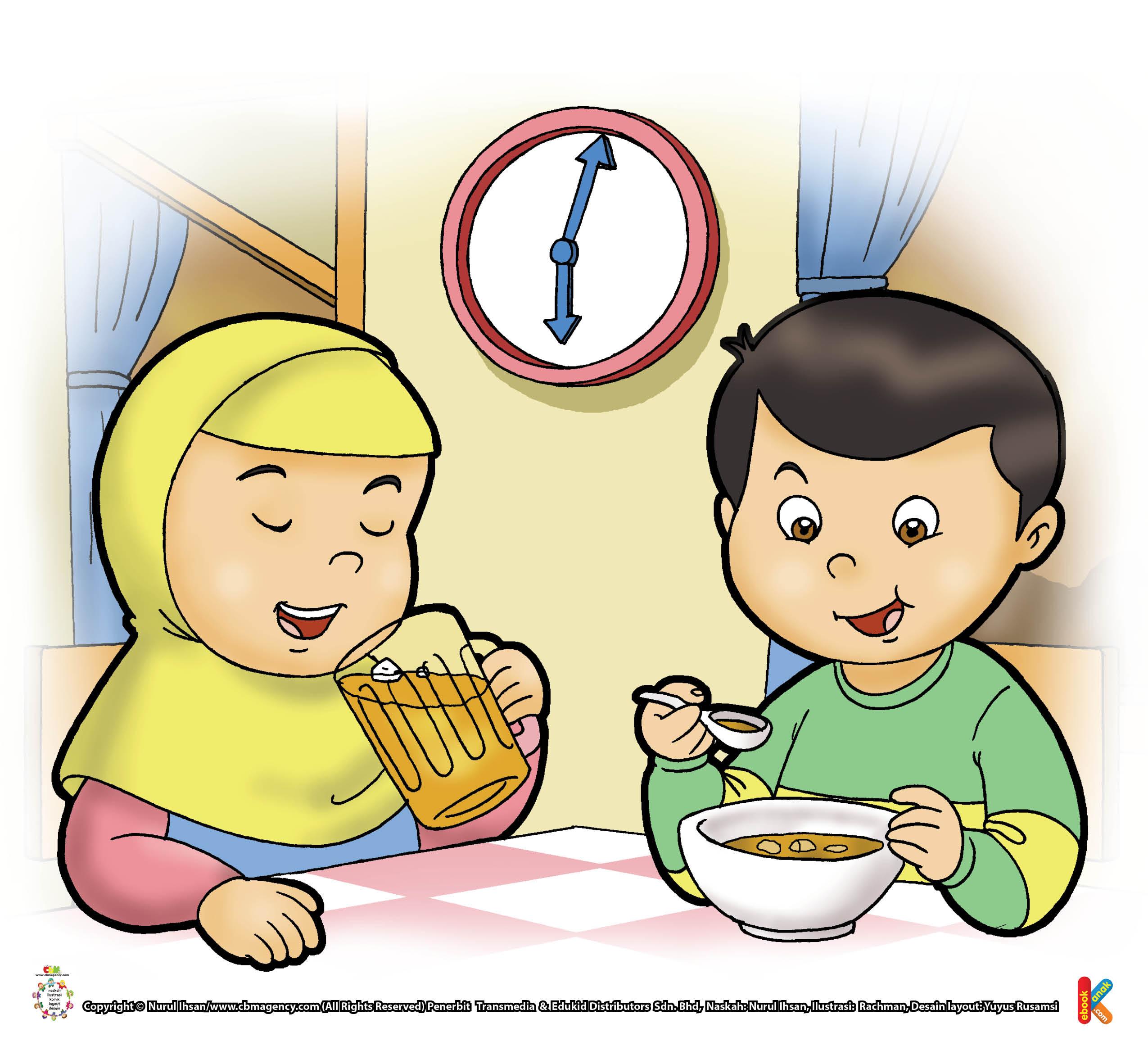Berbukalah dengan yang manis, sebelum makan nasi atau makan yang lainnya.