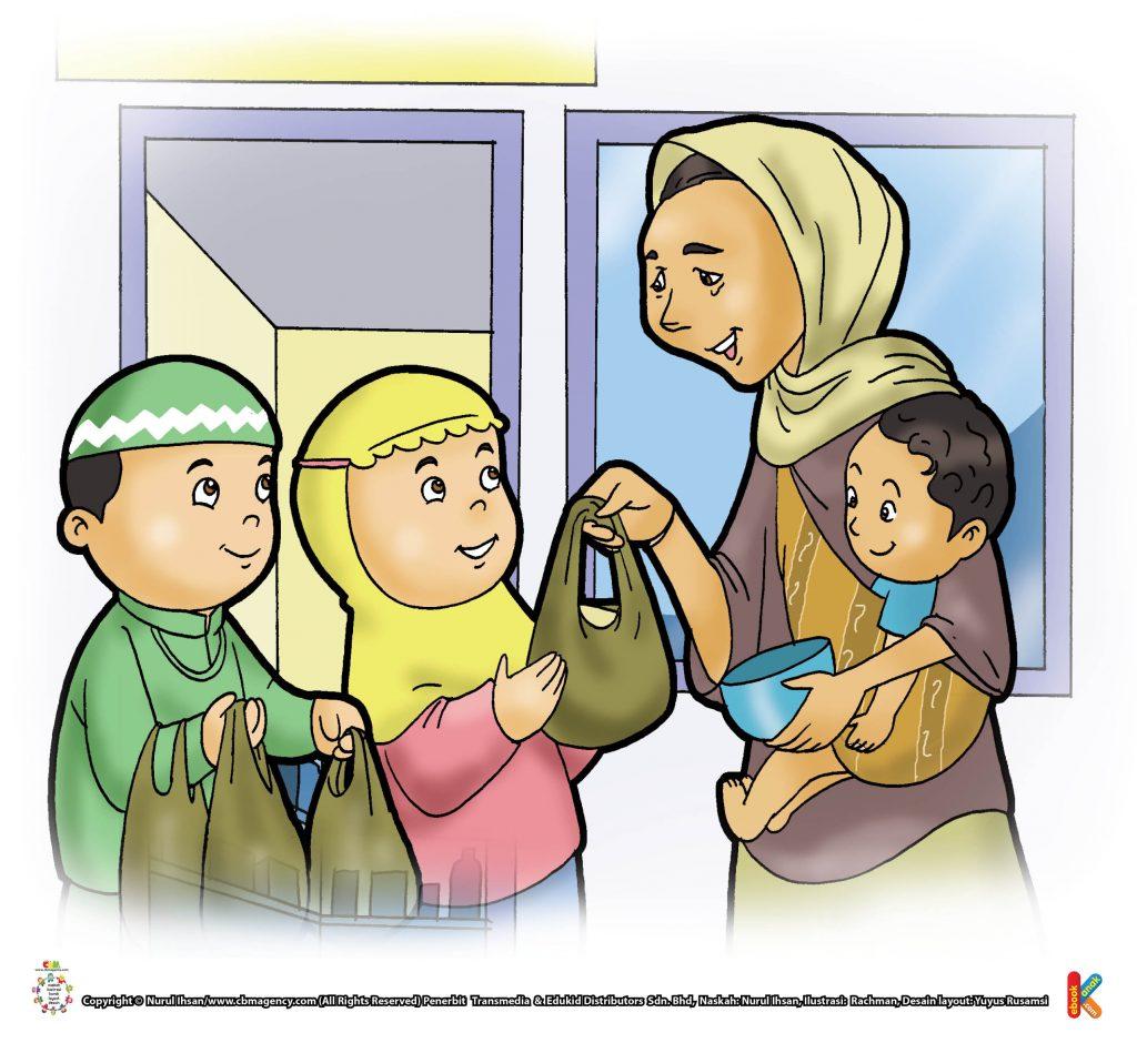 ibadah-dan-aktivitas-anak-soleh-memberi-makanan-untuk-berbuka-puasa