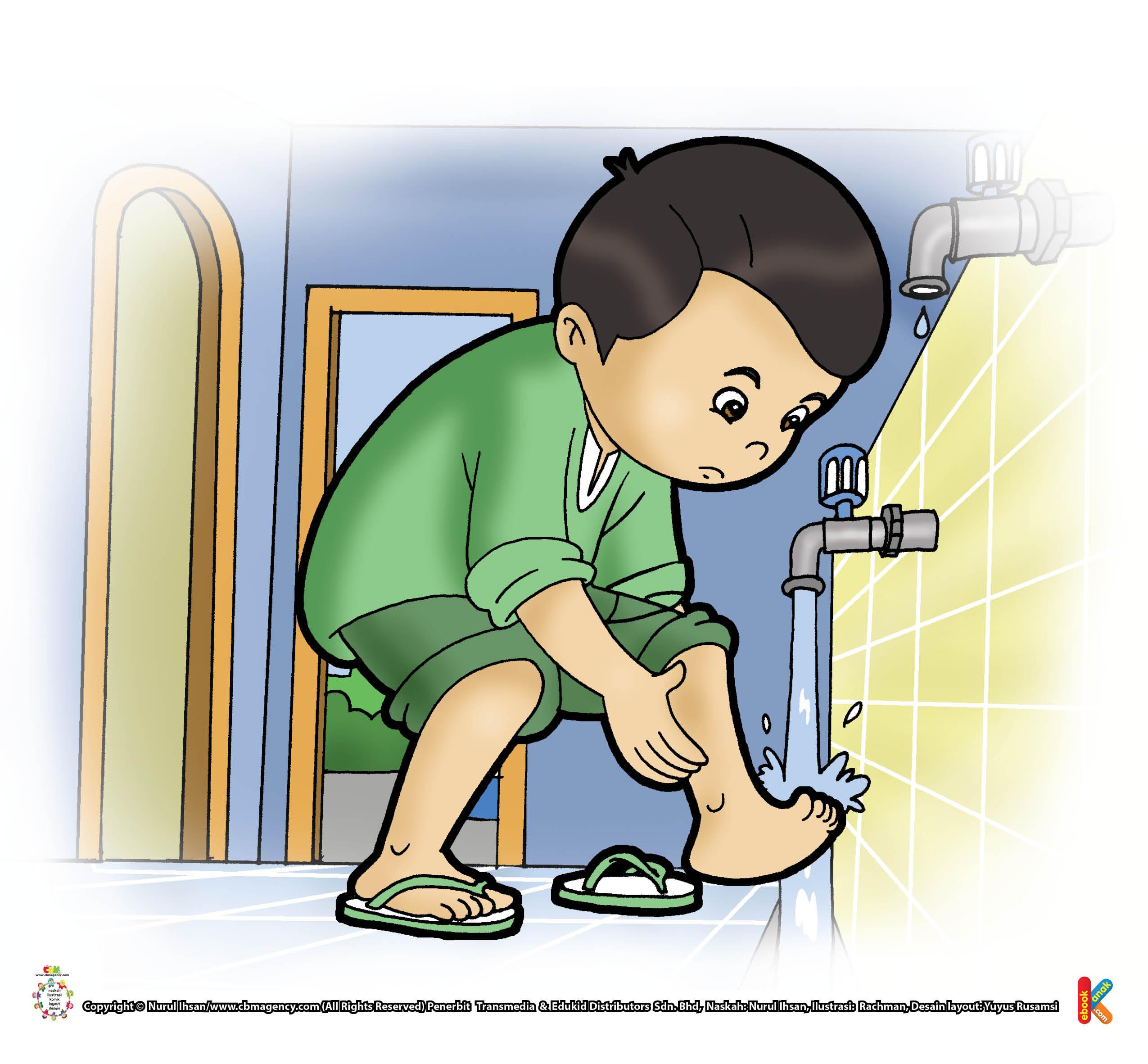 Keutaman membasuh kedua kaki saat wudhu.