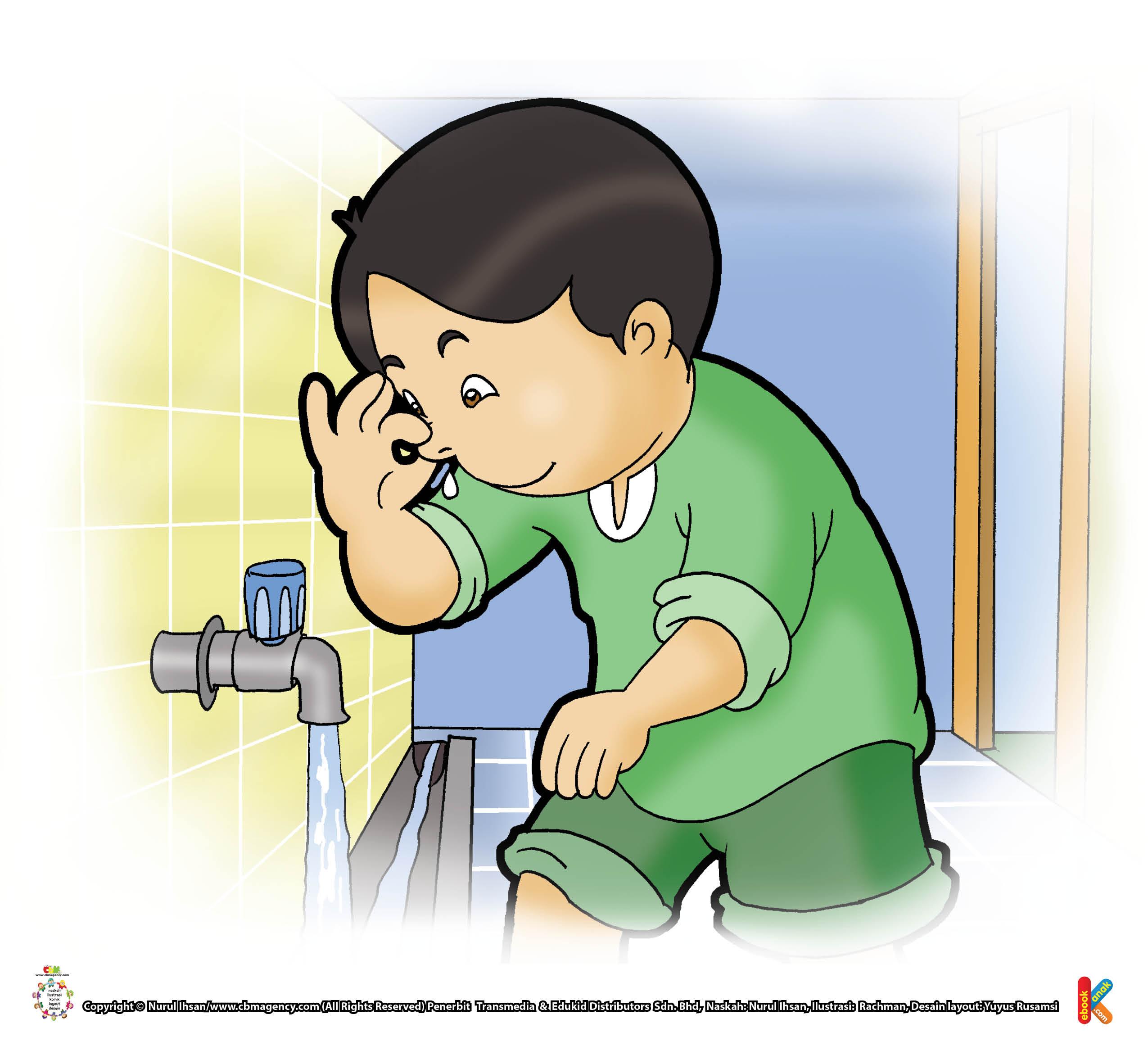 Keutamaan memasukkan air ke rongga hidung saat wudhu.