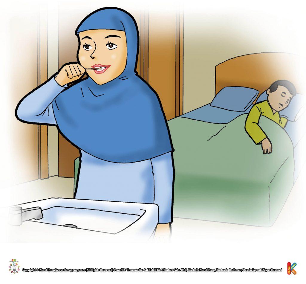 ibadah-dan-aktivitas-anak-soleh-menggosok-gigi-saat-bangun-malam