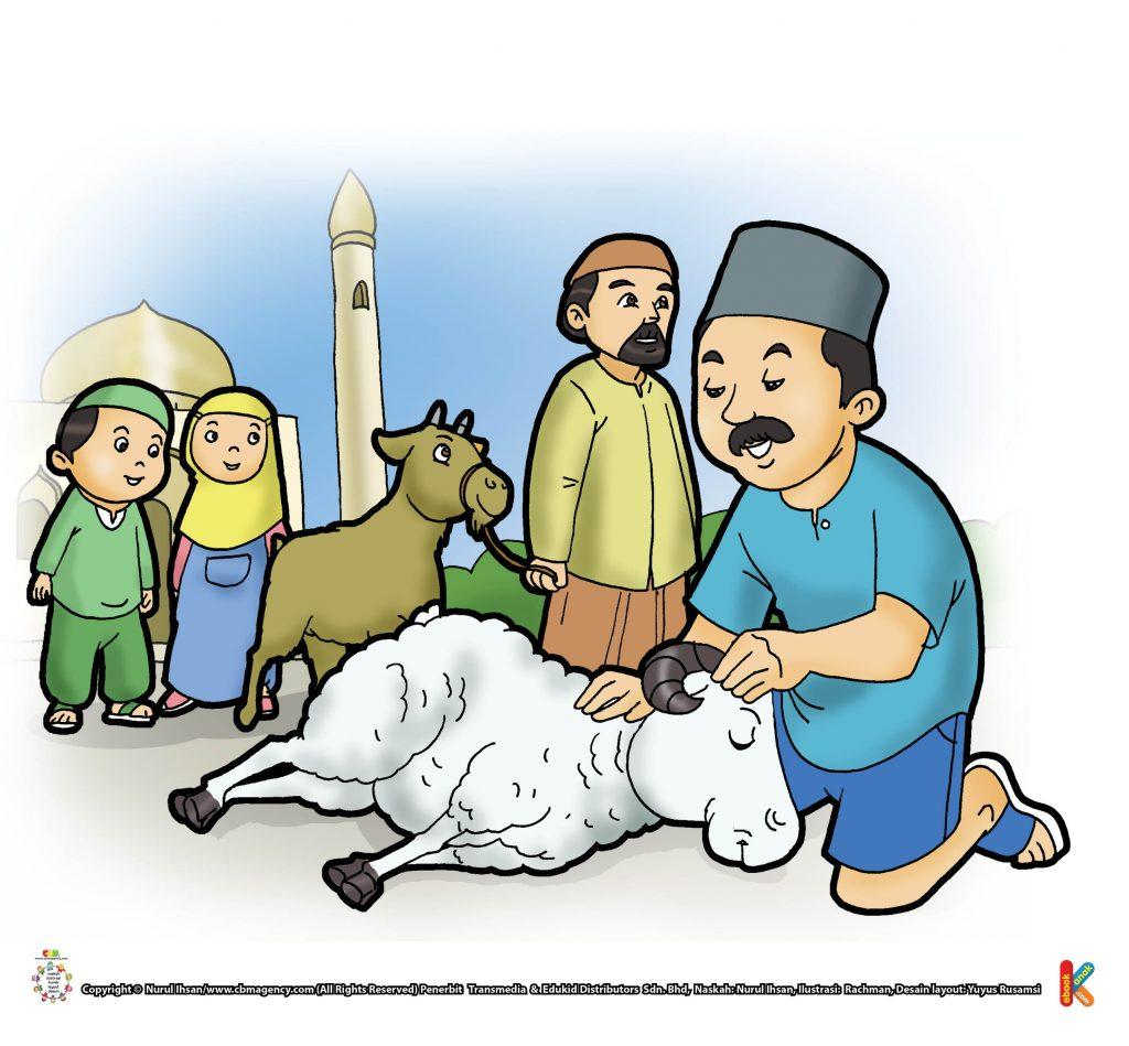 ibadah-dan-aktivitas-anak-soleh-menyembelih-hewan-qurban-di-tempat-shalat-id