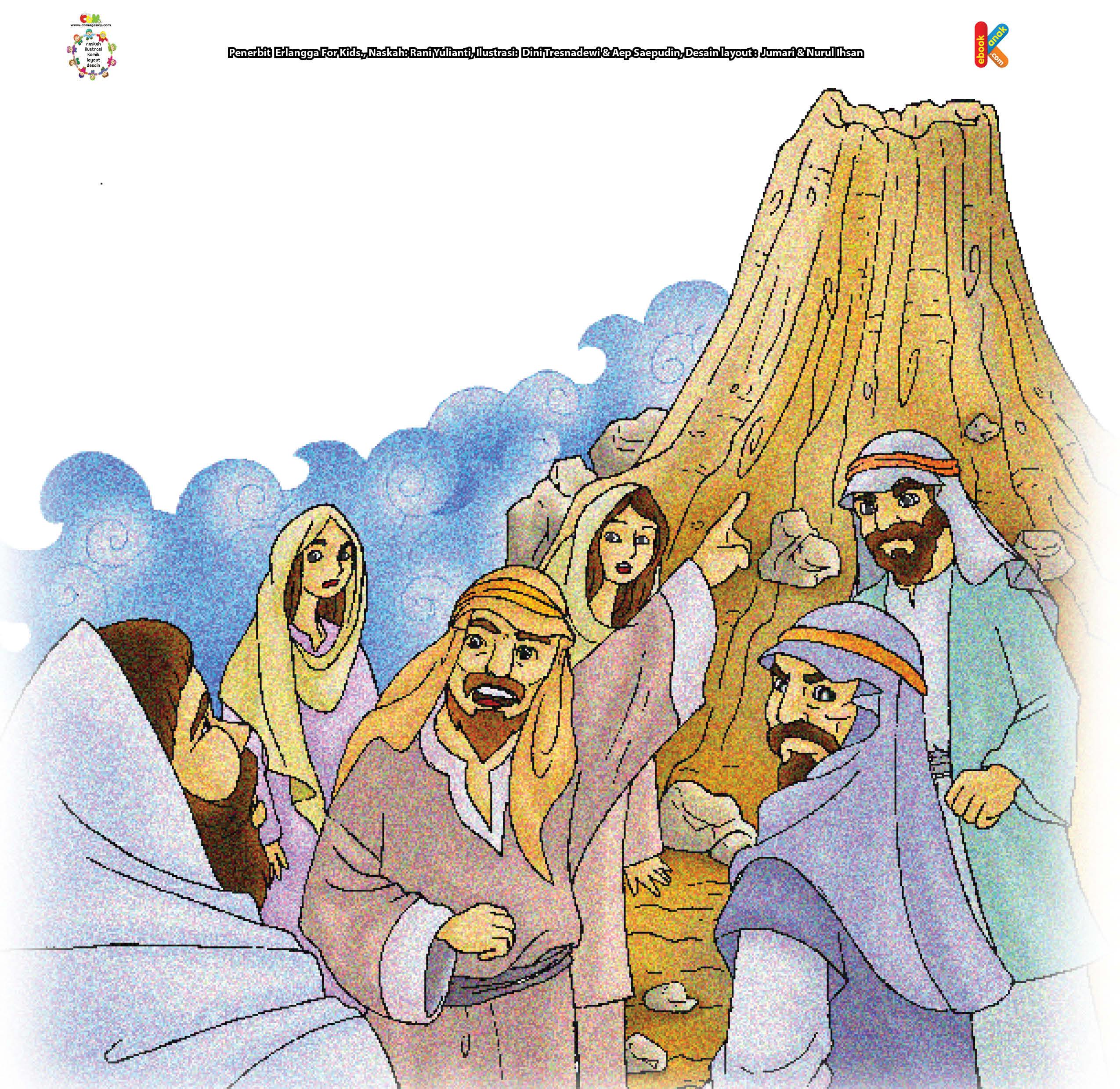 Pada hari yang sudah disepakati, Nabi Saleh berdiri di hadapan kaum Tsamud.