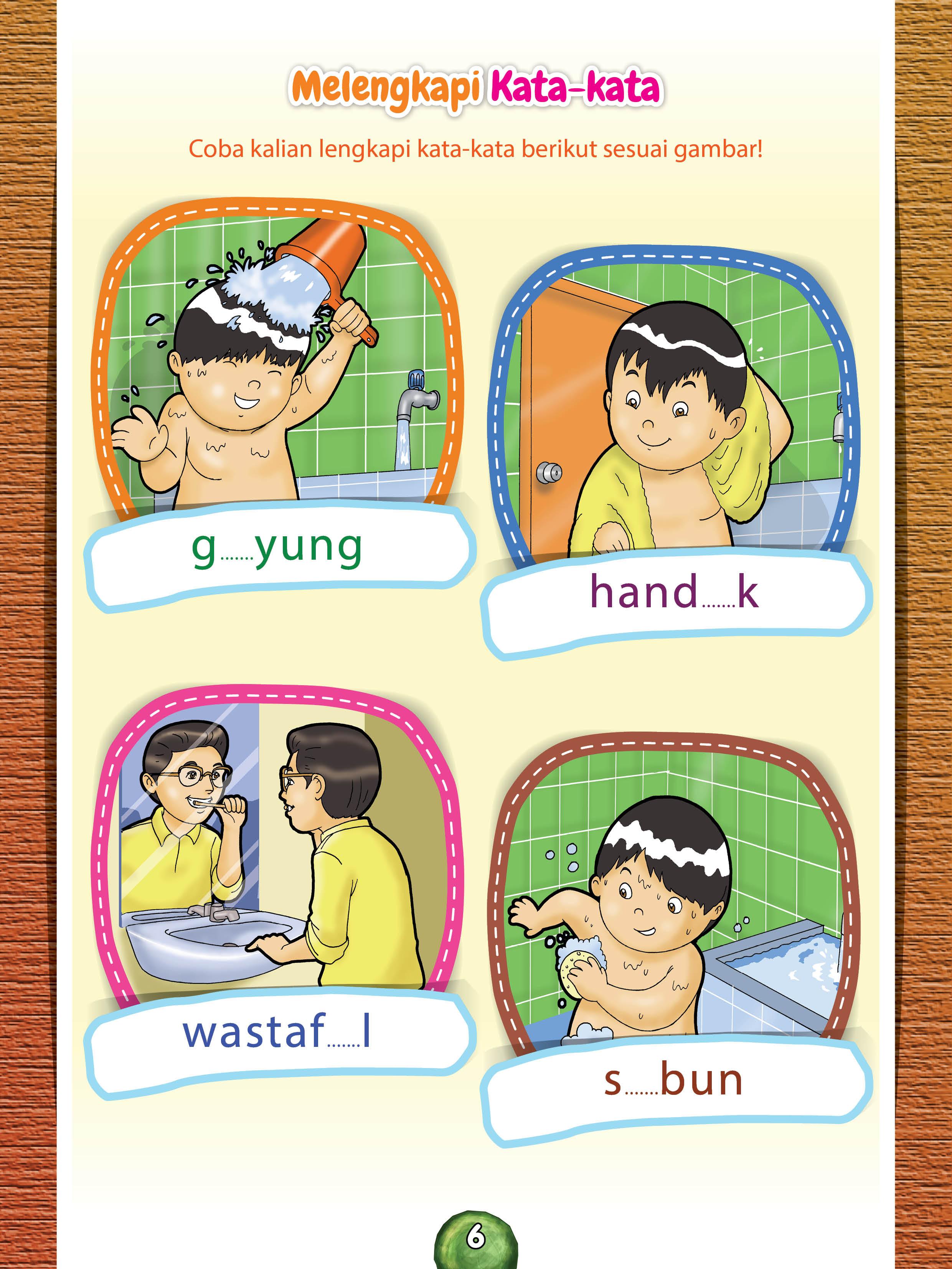 lembar kerja melengkapi huruf untuk anak TK PAUD dan anak muslim