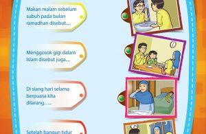 Lembar aktifitas anak TK, PAUD, dan anak muslim.