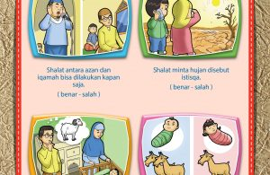 Lembar kegiatan anak muslim, TK, dan PAUD belajar agama Islam.