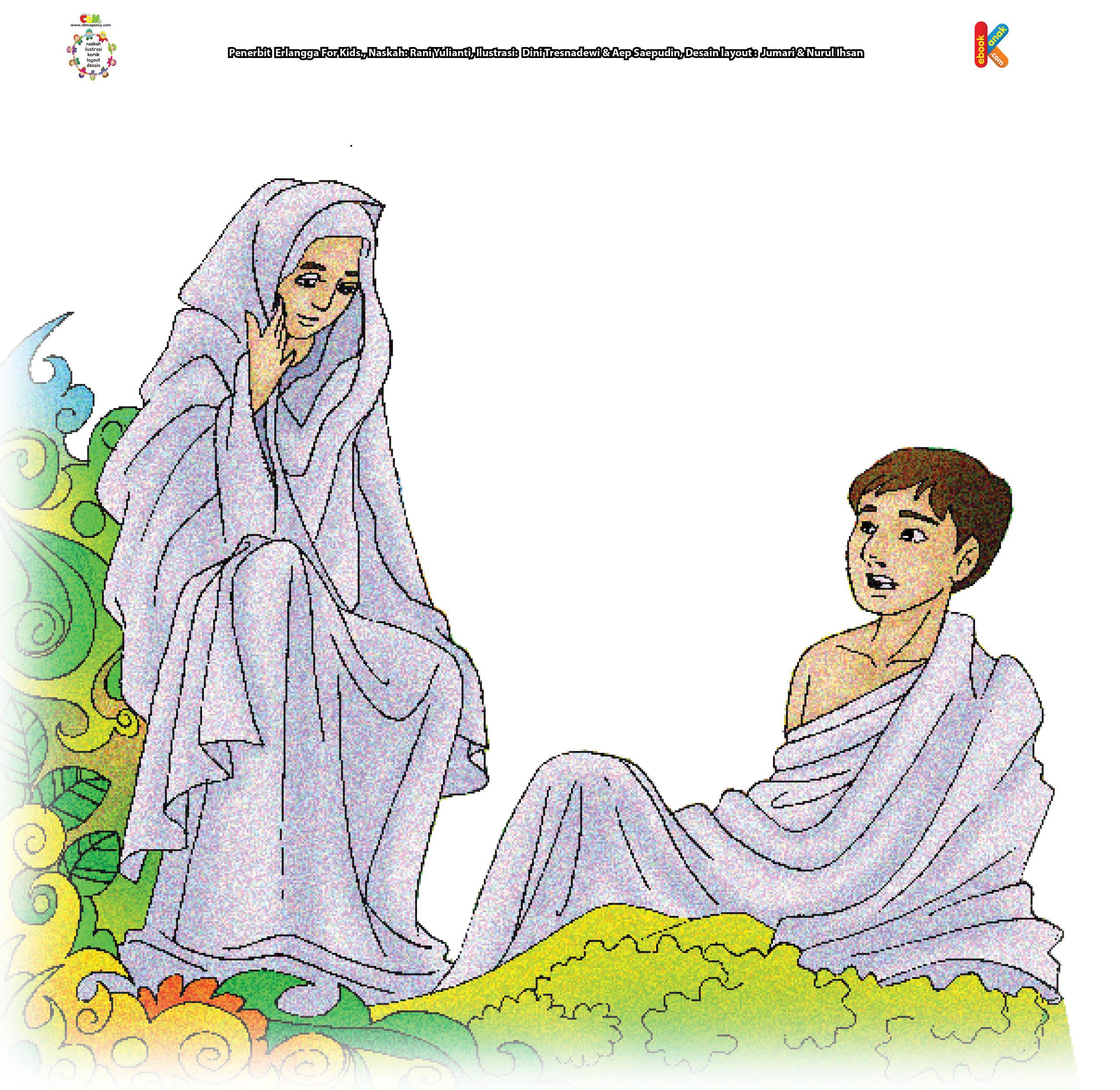 Di surga, Adam sendirian. Kemudian, saat Adam tidur pulas, Allah mengambil satu tulang rusuk sebelah kiri Adam, lalu menutup bekas lukanya.