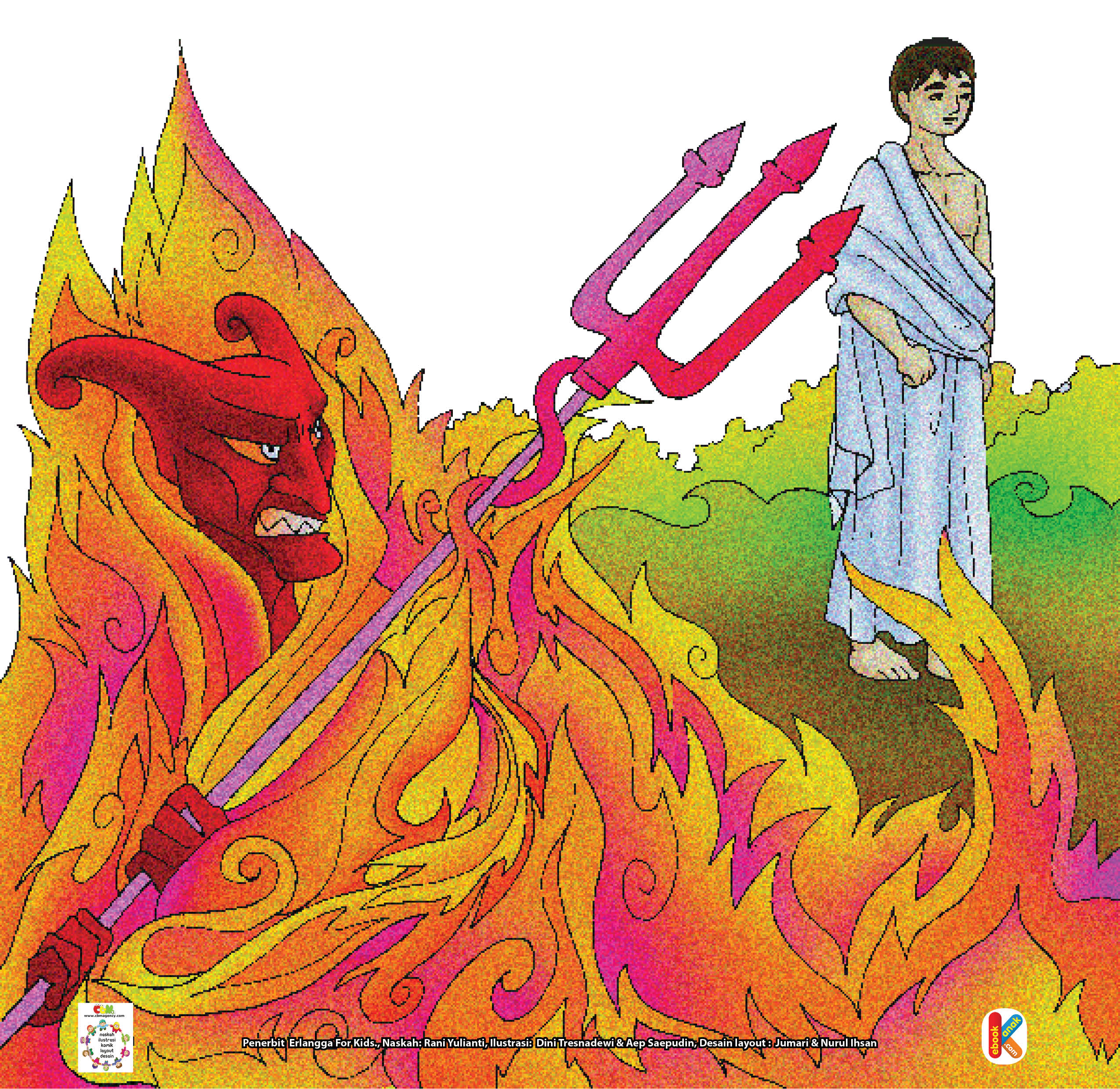 """Kemudian Allah berfirman kepada iblis, """"Pergilah engkau bersama pengikut-pengikutmu yang semuanya akan menjadi isi neraka Jahanam dan bahan bakar neraka."""""""