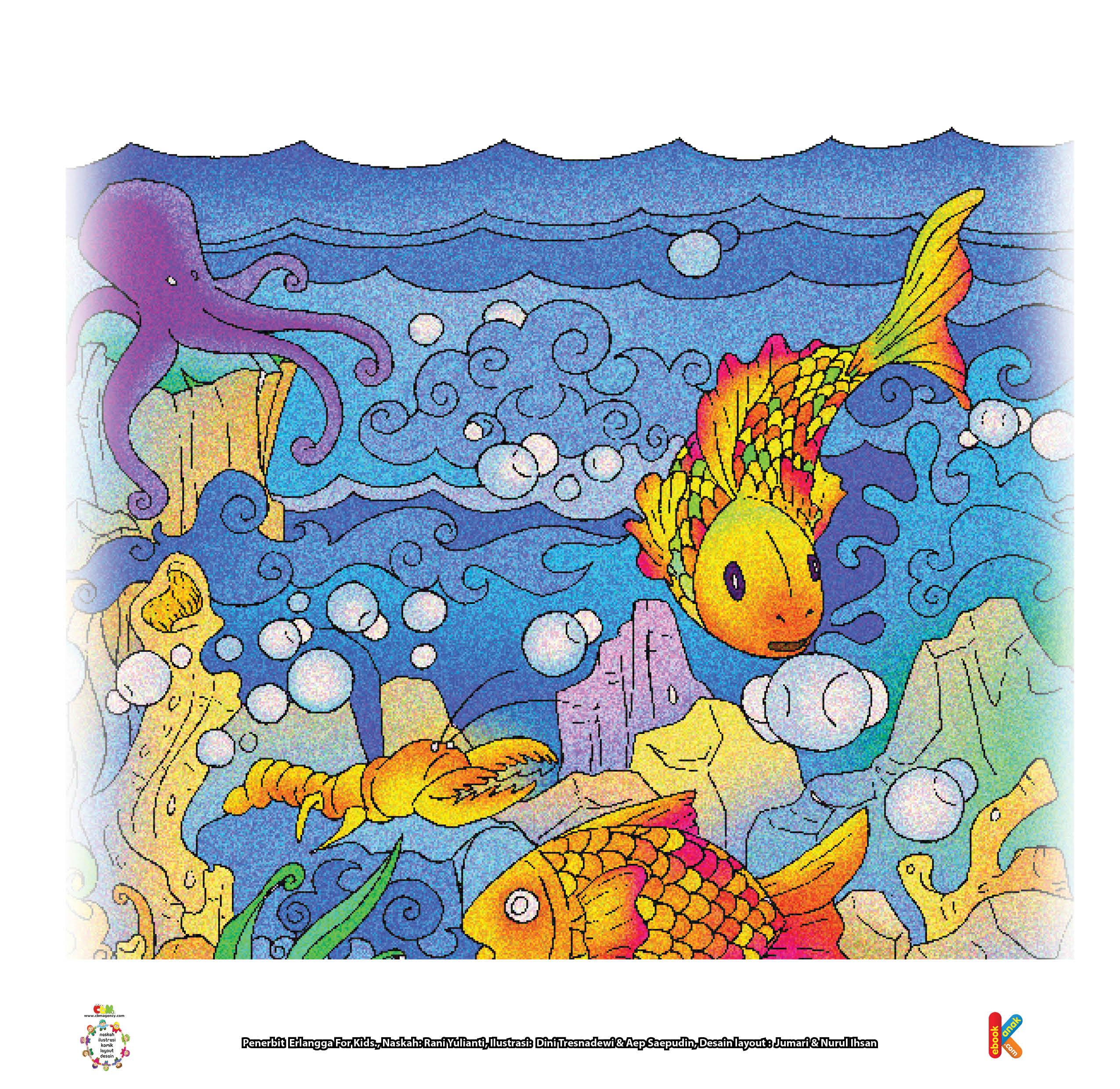 Allah menciptakan berbagai macam makhluk laut, seperti paus dan lumba-lumba, kepiting, udang, lobster, belut, gurita, dan berbagai macam tumbuhan laut.