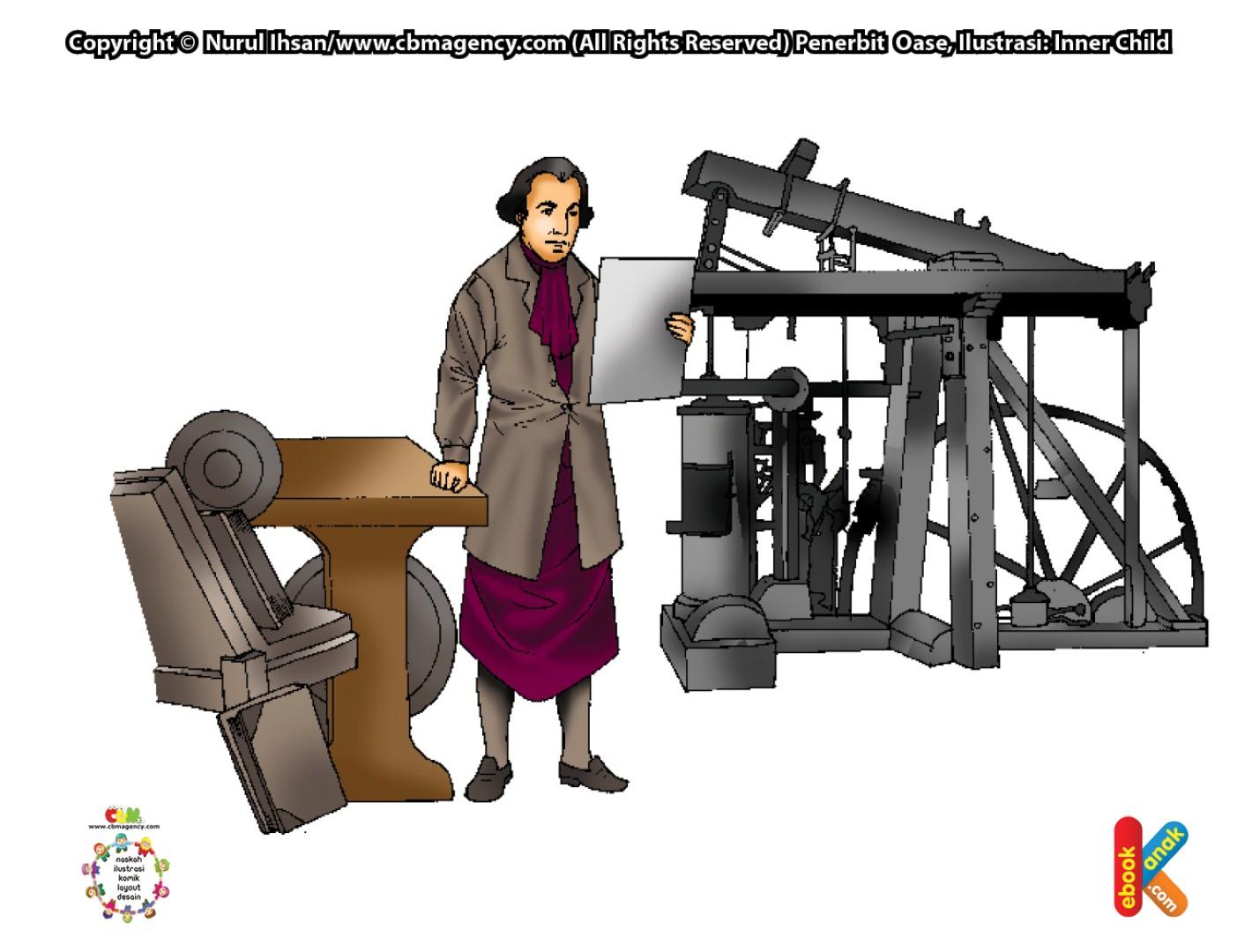 James Watt Penemu Mesin Uap Penyuka Dongeng