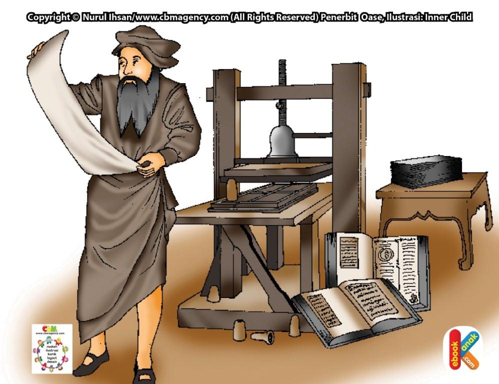Johannes Gutenberg Penemu Mesin Cetak