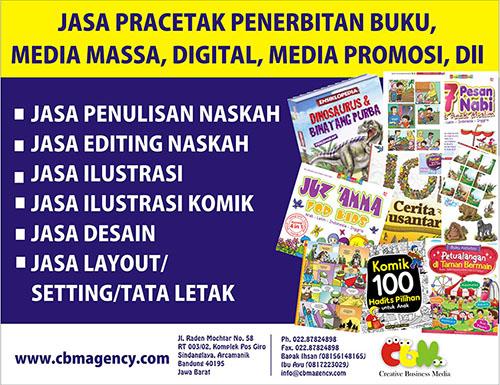 Jasa pracetak penerbitan buku dan media promosi