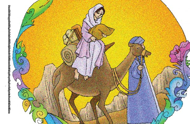 Setiap hari, Siti Sarah tertawa bahagia karena akan memperoleh seorang anak. Kemudian, lahirlah seorang bayi laki-laki yang diberi nama Ishak.
