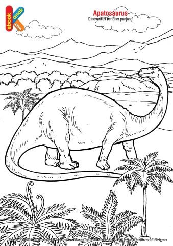 Mewarnai Gambar Dinosaurus Apatosaurus