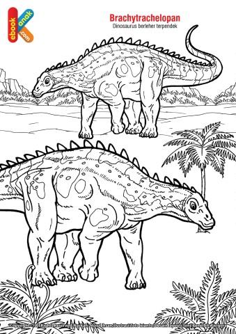 Mewarnai Gambar Dinosaurus Brachytrachelopan