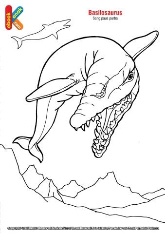 Mewarnai Gambar Hewan Purba Basilosaurus