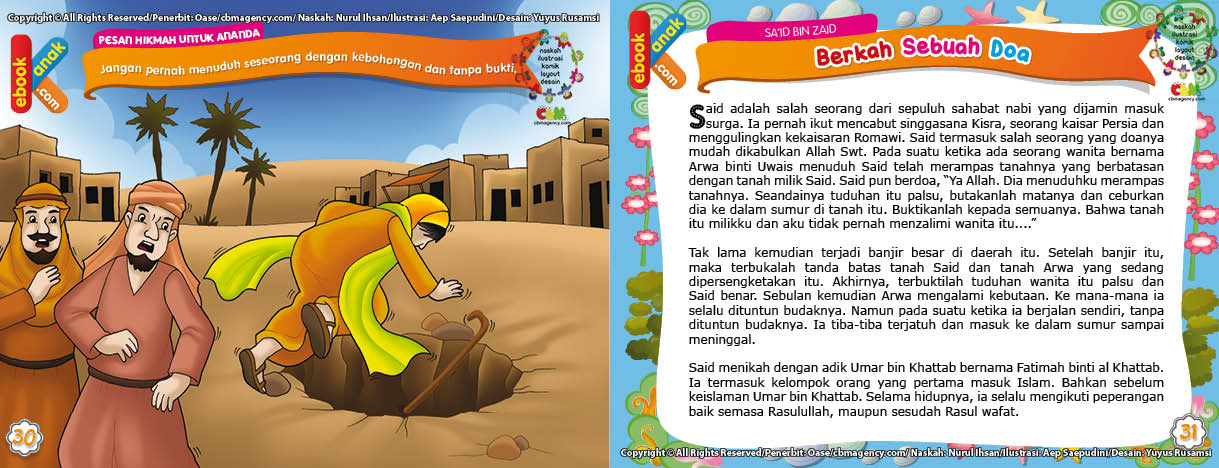 Jatuh ke Dalam Sumur Akibat Doa Said bin Zaid
