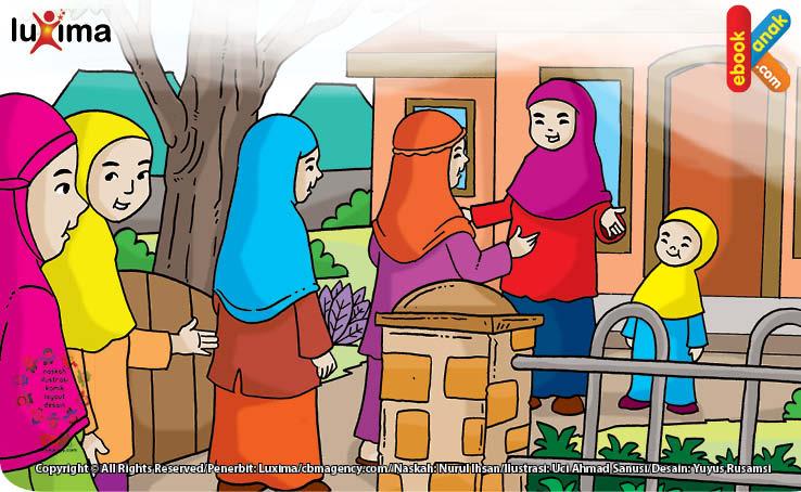 Ilustrasi Memuliakan Tamu Sebagian dari Iman. (HR Bukhari)