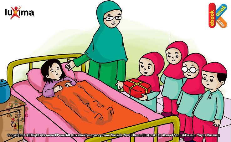 Menjenguk orang sakit merupakan bagian dari iman. (HR Muslim)