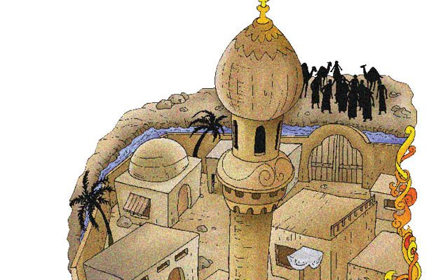 Kaum Muslim Menggali Parit di Sekitar Madinah