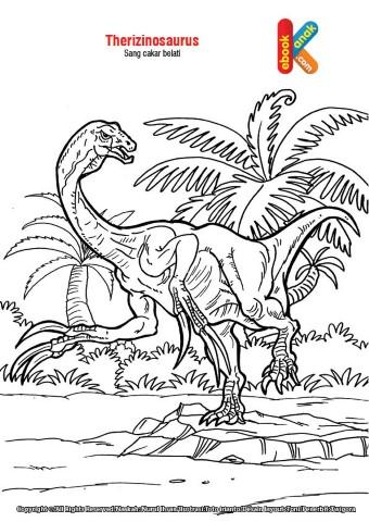 Mewarnai gambar Dinosaurus Cakar Belati,