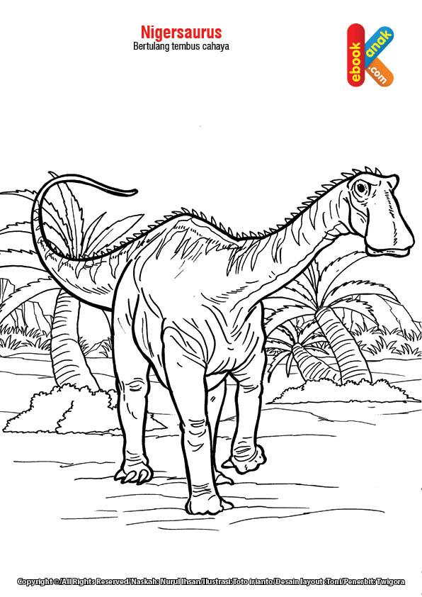 Nigersaurus yang Bertulang Tembus Cahaya