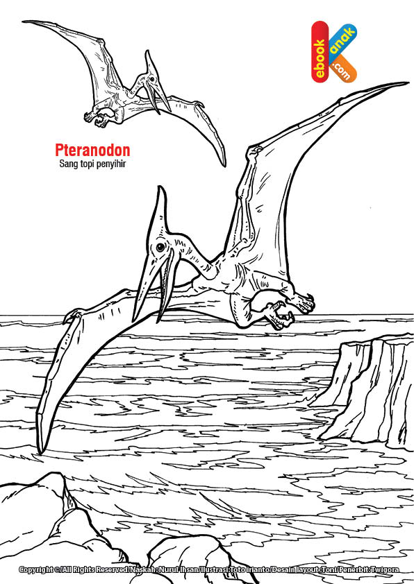 Pteranodon, Reptil Terbang Mirip Topi Penyihir