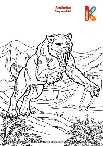 Smilodon Singa Purba Bertaring Belati