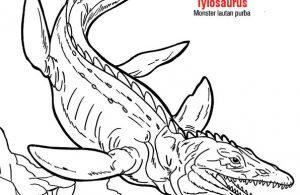 Mewarna Tylosaurus adalah monster lautan purba