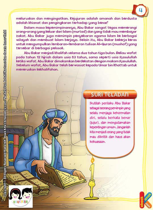 Abu Bakar bekerja keras untuk mengumpulkan lembaran-lembaran tulisan Al-Quran atau mushaf