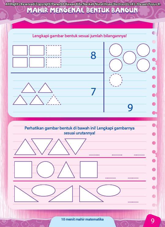 belajar matematika mengenal konsep bentuk bangun