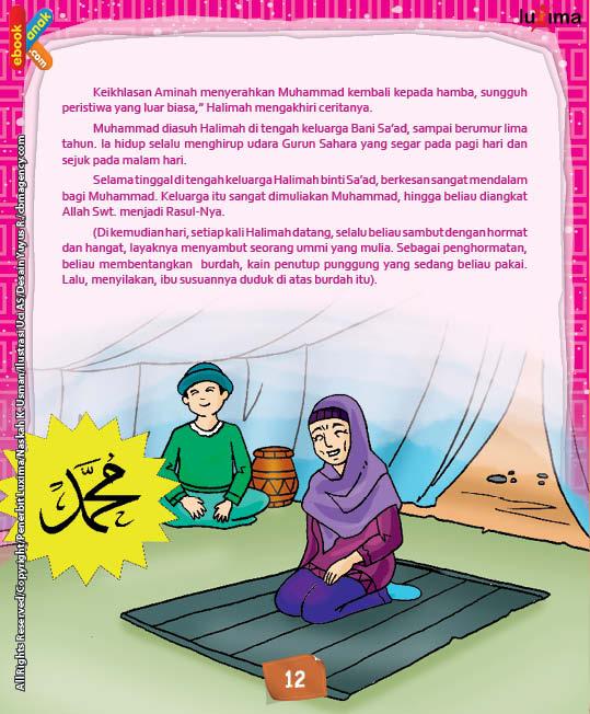 Sebagai penghormatan, Muhammad membentangkan burdah