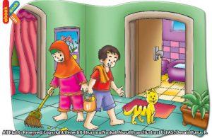 Etika di kamar mandi tidak berzikir