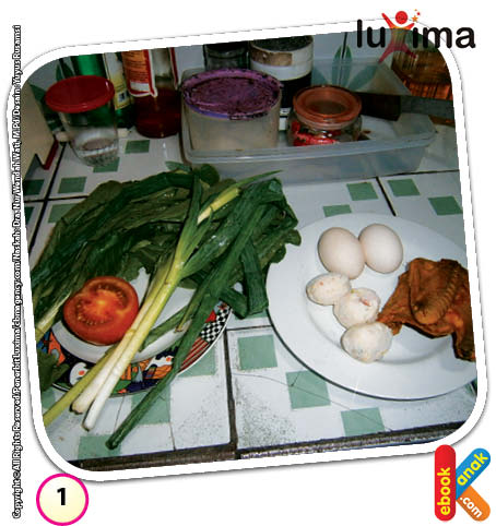 Bahan-bahan untuk membuat mie rebus sayur