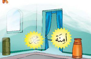 Mulai saat itu, Muhammad hidup di bawah asuhan Aminah bunda kandungnya